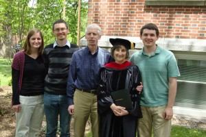Beth Yoder with her family at her graduation from Drew.