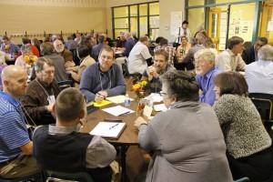 delegates conferring