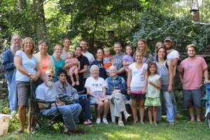 John Drescher with family