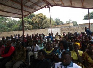 CCDN is partnering with this suburban Christian congregation and Congolese expats to build walls and floor for the roof-only church building.