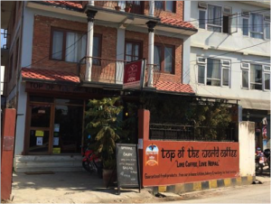 Top of the World Coffee in Kathmandu, Nepal.