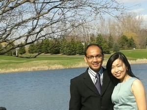 Aldo Siahaan and Viviani Chandra